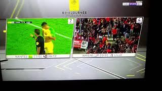 Amiens Lille - Effondrement barrière après but Lillois