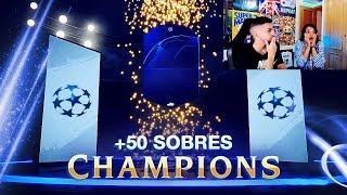 +50 SOBRES DE LA CHAMPIONS CON LA NOVIA !!! FIFA 19
