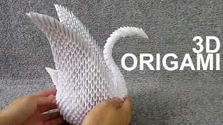 Building 830 Pieces 3D ORIGAMI SWAN Step by Step