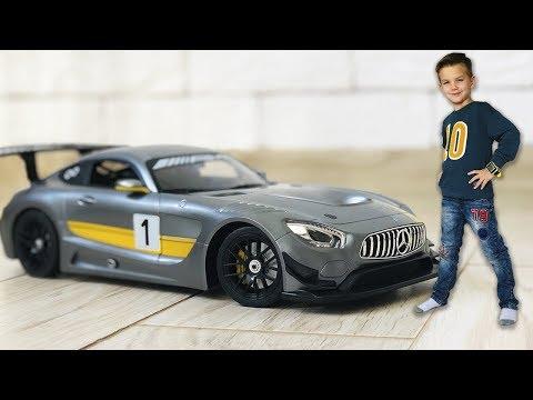 У Марка появилась Новая машинка Большой спортивный Мерседес AMG GT3