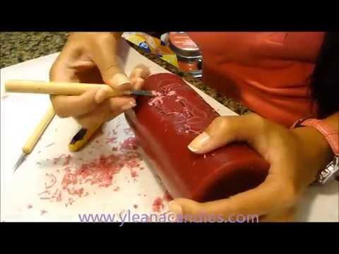 Como tallar vela carved candles con yleana rubin youtube - Como hacer velas ...