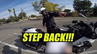 (Don't take this video seriously) Incredibly Rude Fresno Motorcycle Cop!