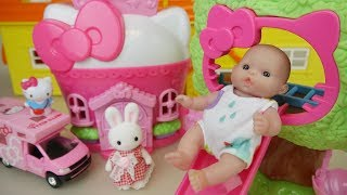 Video Baby doll Hello Kitty house and car toys Baby Doli play download MP3, 3GP, MP4, WEBM, AVI, FLV Desember 2017