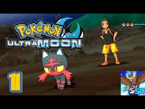 Pokemon Ultra Moon Walkthrough 11 - Melemele Meadow + Seaward Cave