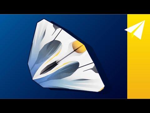 FLIES OVER 100 FEET! —My BEST Paper Airplane Glider —How to Make Zenith