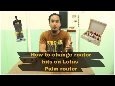 Lotus Palm Router – Change router bits on your Lotus palm router