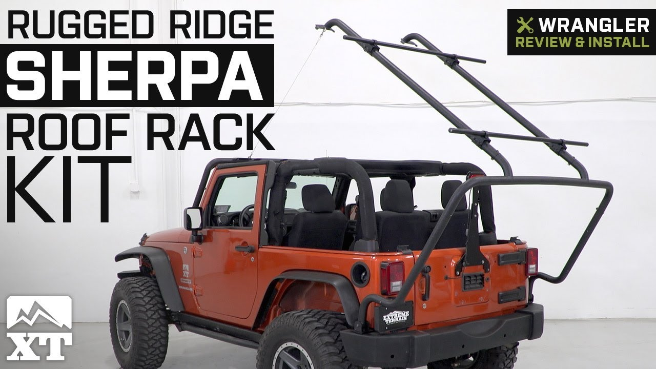 Jeep Wrangler Rugged Ridge Sherpa Roof Rack Kit (2007-2018 ...