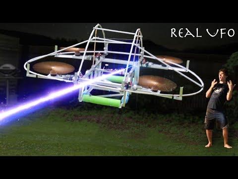 I Built A Flying Life-Sized UFO To Raid Area 51!