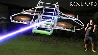 I Built A Flying Life-Sized UFO To Raid Area 51!