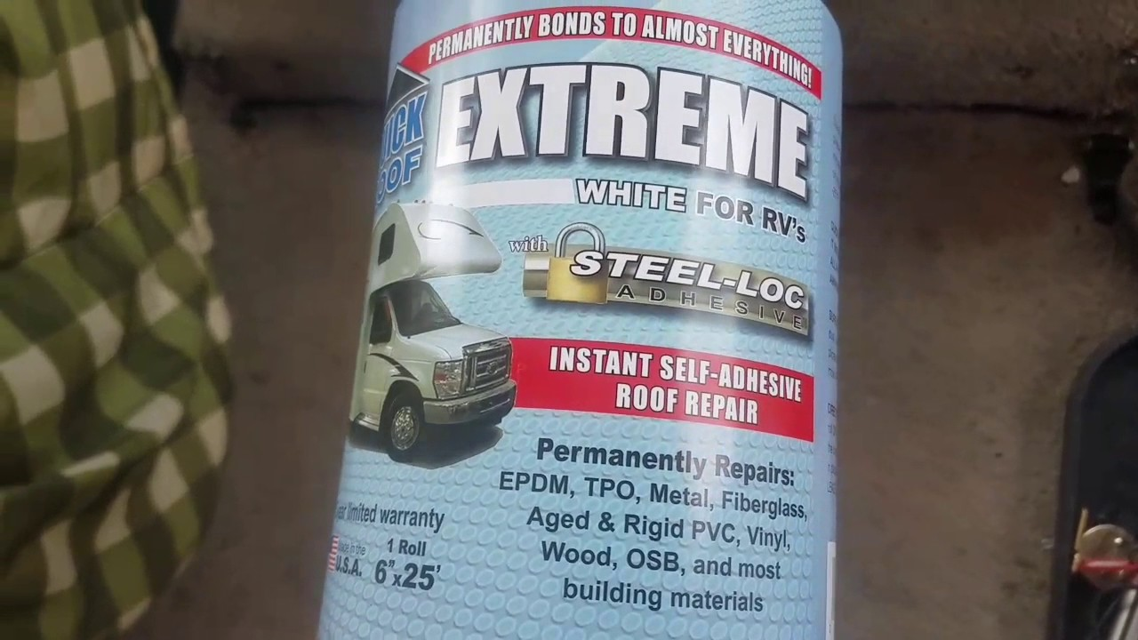 Need Advice And Roof Patching With Extreme White Self Adhesive Patch