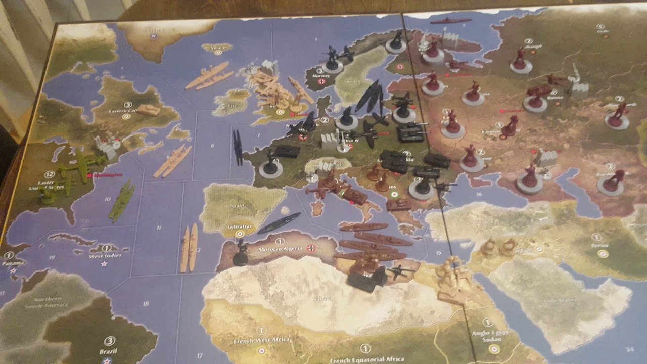 Axis and Allies Anniversary Edition: United States 1941 Setup