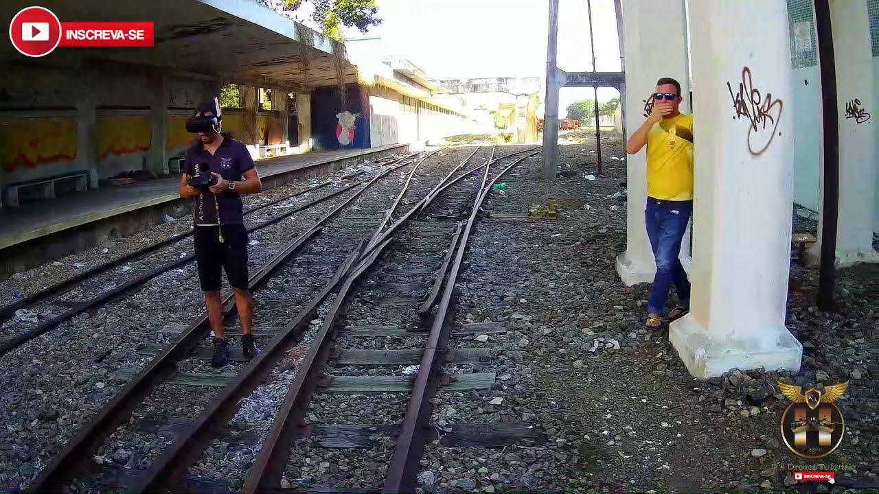FPV Com Hubsan H501A X4 Air Pro | Na FCA Estação Ferroviária | Campos-Rj | FPV#2 фотки