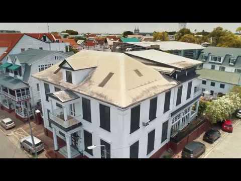 Drone video Paramaribo (Stadsherstel Suriname)