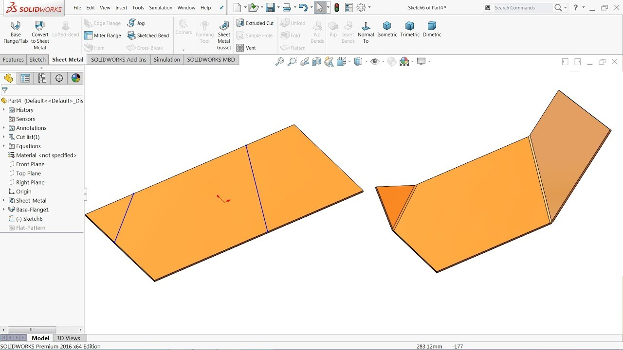 How To Sketched Bend In Solidworks Sheet Metal Tutorial