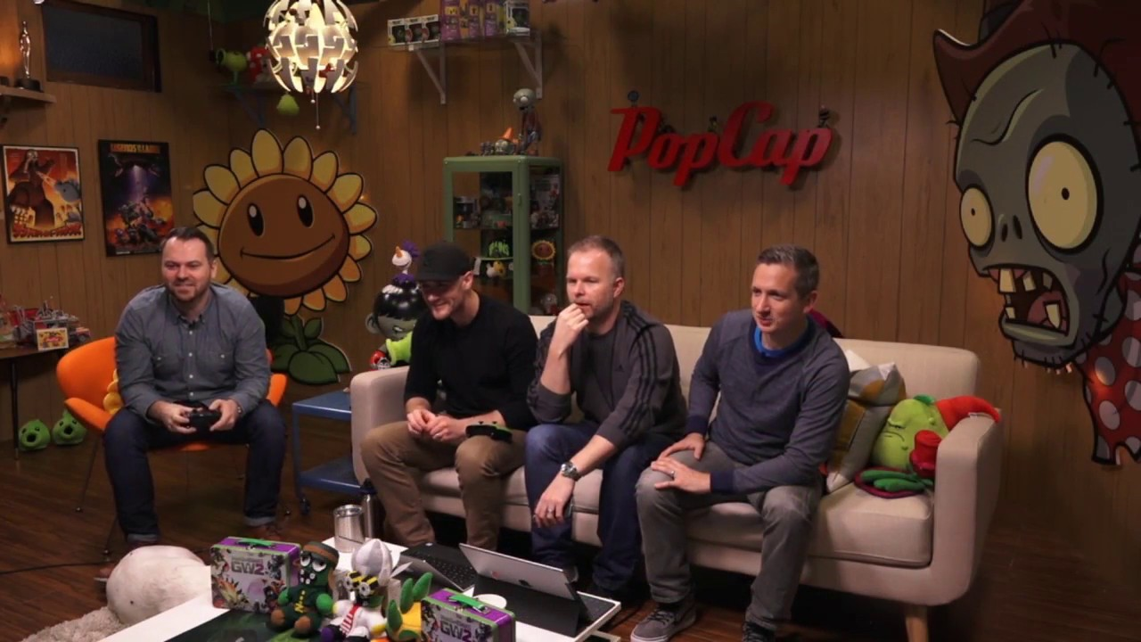 Gameplay of Frontline Fighters   PvZGW2   Live From PopCap ...