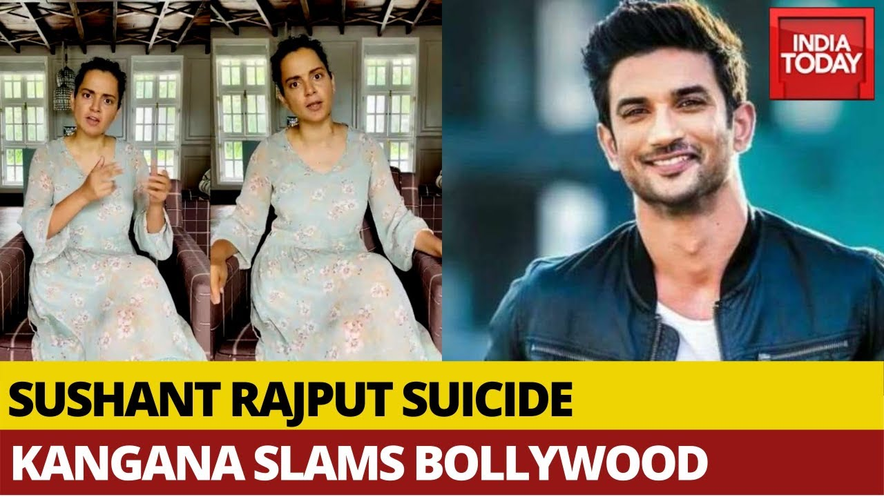 Angry Kangana Ranaut Lashes Out At Bollywood Over Sushant Singh Rajput's Death