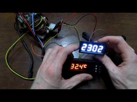 Установка LED часов с AliExpress в корпус часов Lacetti