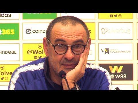 Wolves 2-1 Chelsea - Maurizio Sarri Full Post Match Press Conference - Premier League