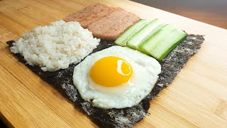 착착 접어서 만드는 스팸 샌드위치 김밥 || Ham R…