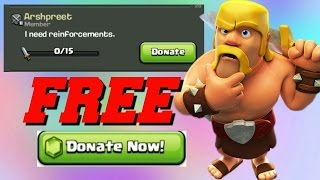 CLASH OF CLANS HACK | DONATE FREE TROOPS