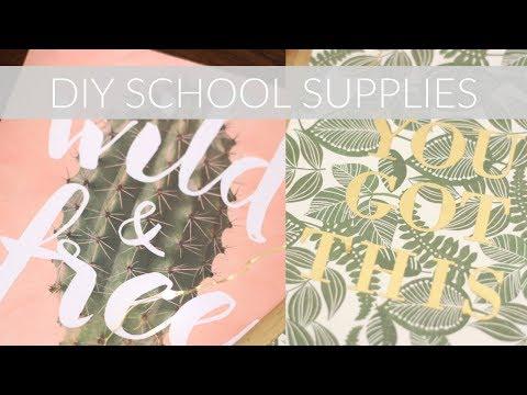 DIY SCHOOL SUPPLIES (Folder, Notebook, Pencils + More)    Katie Bookser