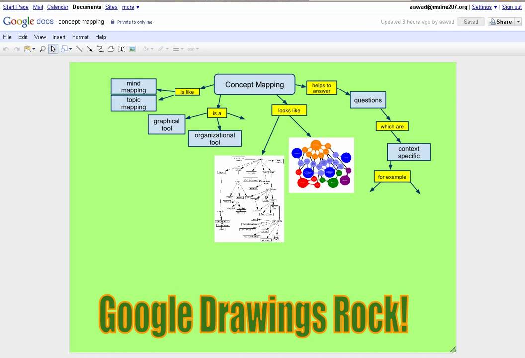 Concept Mapping With Google Docs Drawings Youtube