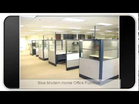 Blue Modern Home Office Furniture