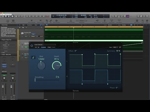 Logic Pro X - Tricks with Tremolo (Instant Sidechain, Glitchy Stutter, Rhythmic Fades)