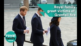 Royal family greet victims of Grenfell fire