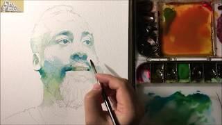 Download Video Watercolor Portrait Tutorial - 3X Video(Intermediate course 1/2) 인물수채화 중간단계 -3배속 MP3 3GP MP4