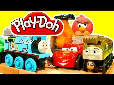 Play Doh Saw Mill Angry Birds Thomas The Tank Wooden Railway Disney Cars2 Dinosaur Train Toy Story