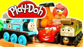 Play Doh Saw Mill Angry Birds Thomas The Tank Wooden Railway Disney Cars2 Dinosaur Train Toy Story