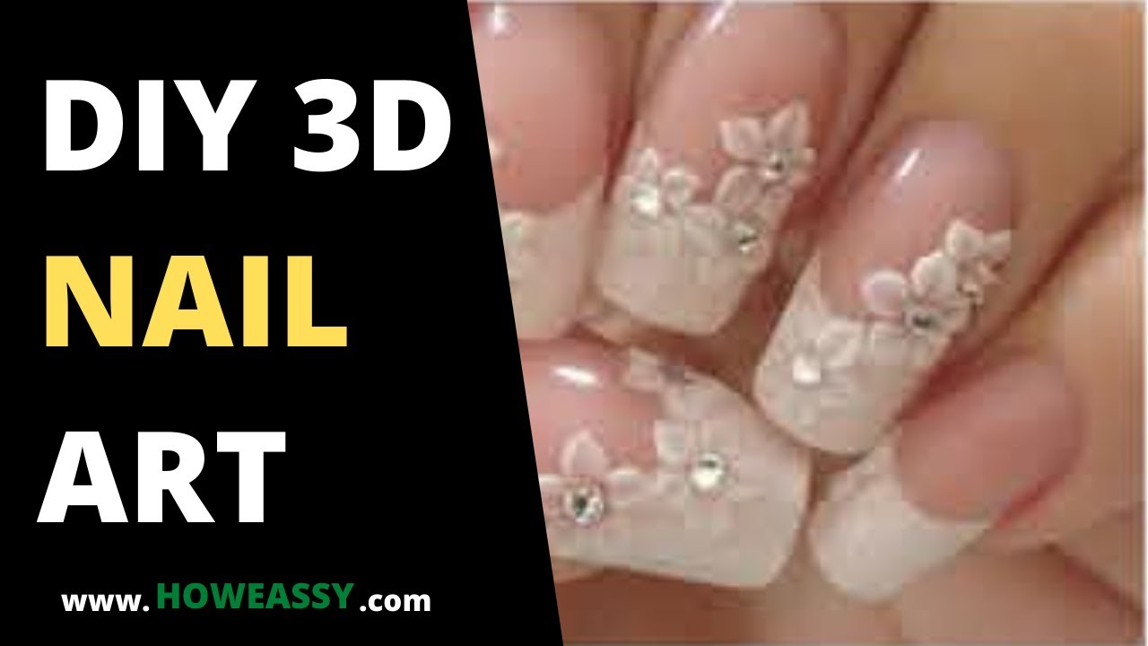 Diy 3d nail art youtube for Diy 3d art