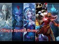 Dota 2 Killing a Specific Enemy Lina-Crystal Maiden-Puck-Storm Spirit-Windranger-Zeus