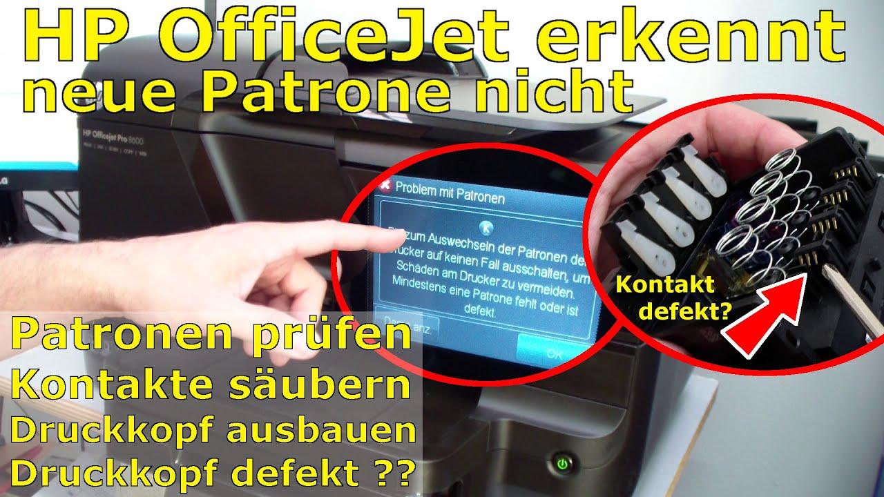Hp Officejet Pro 8600 Meldet Quot Mindestens Eine Patrone