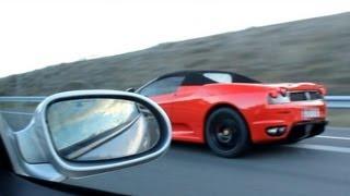 SL 55 AMG vs Ferrari F430 !!