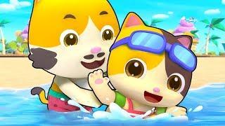 Bayi Kucing Bermain Di pantai Yang Indah | Lagu Anak-anak | BabyBus Bahasa Indonesia