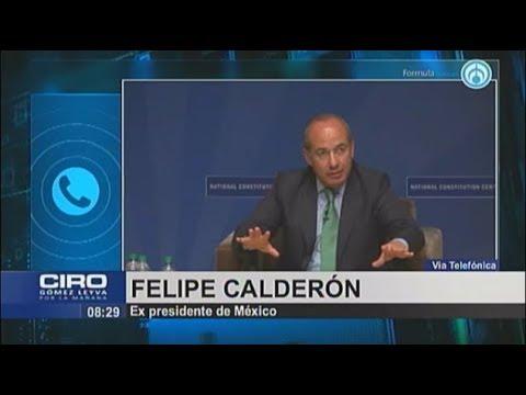Felipe Calderón.-Es totalmente falso que yo haya beneficiado a alguna empresa en materia energética