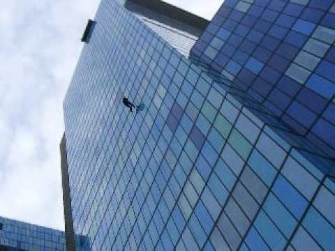 Abseiling from Royal London Hospital for the London Air Ambulance