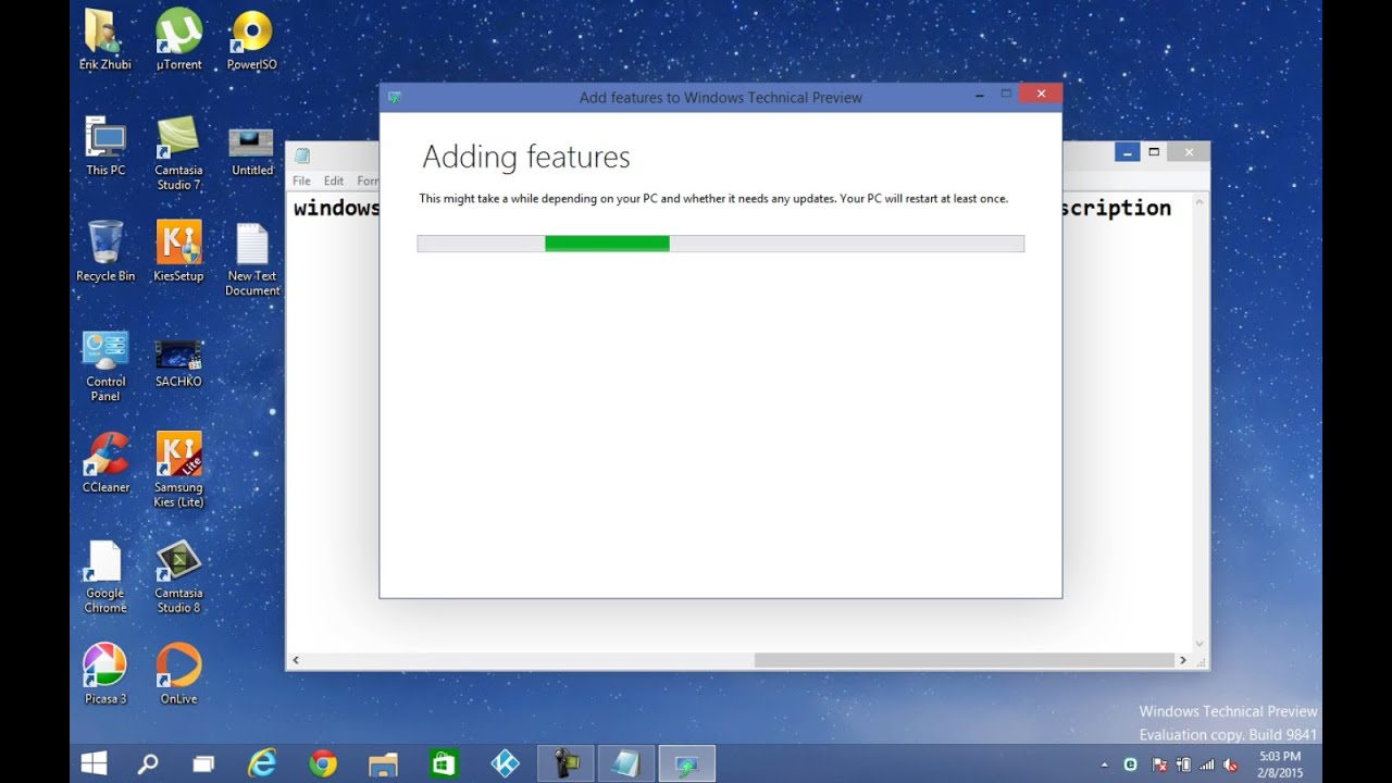 How to install new features on windows 10 technical for Installing new windows