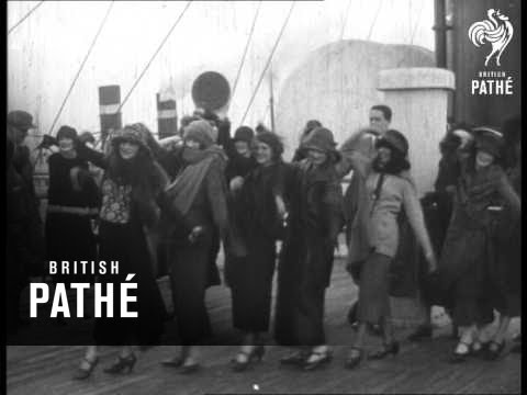 British Beauties Leave On 'aquitania' (1924)