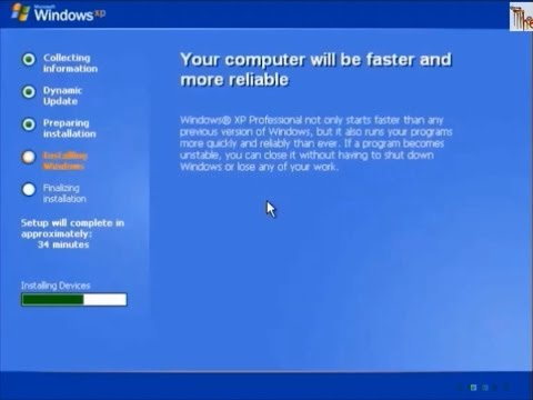 How to format Windows XP computer, partition disk and clean install by cd/dvd