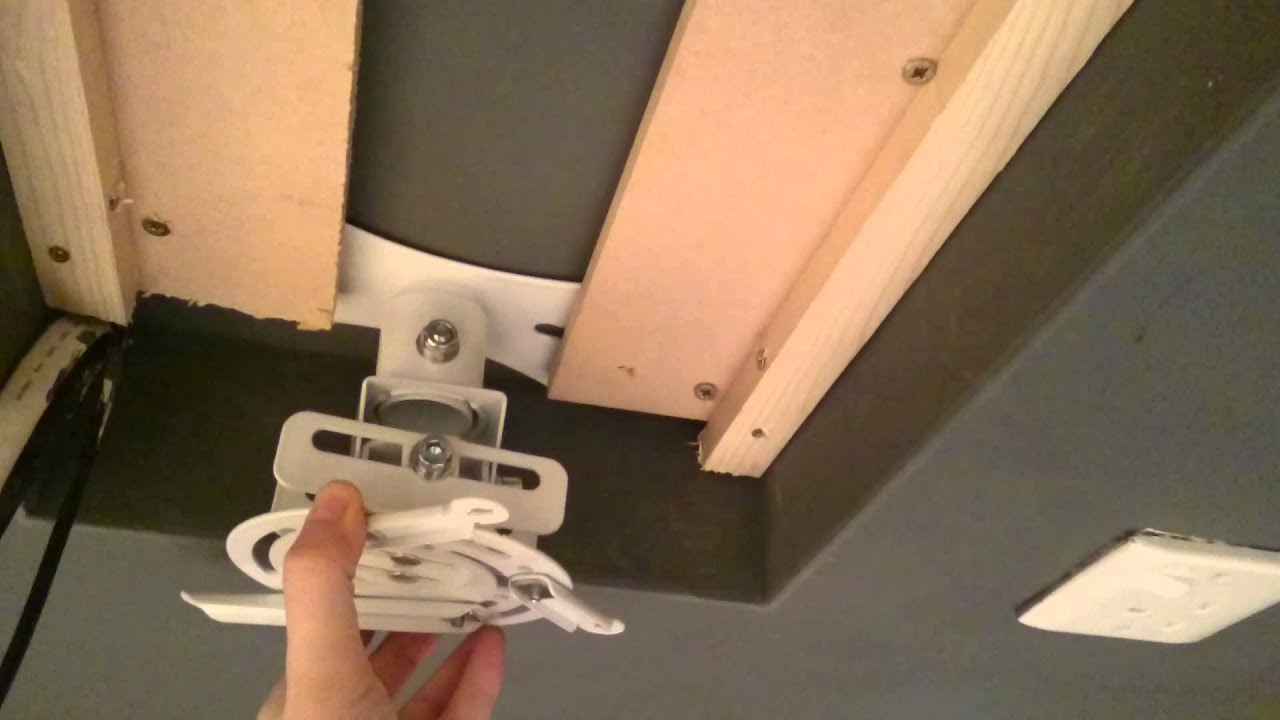 Projector Ceiling Mount Adjustable Zoom Diy Youtube