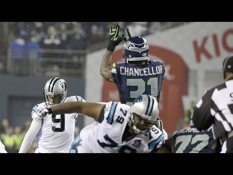 Kam Chancellor leaps over line of scrimmage and dominates vs. Panthers in Divisional Round