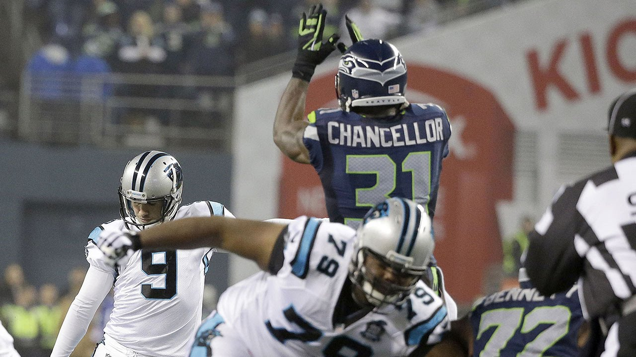 Kam Chancellor leaps over line of scrimmage and dominates vs