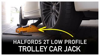 Halfords 2 Tonne Low Profile Trolley Car Jack - Review