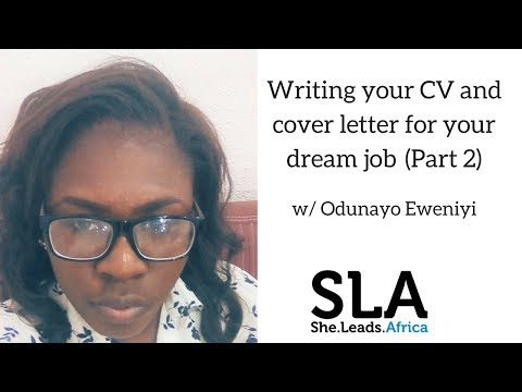 She Leads Africa webinar with Odunayo Eweniyi: Writing your CV and cover letter Part 2