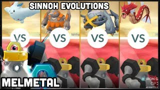 MELMETAL GYM BATTLES IN POKEMON GO | VS RHYPERIOR METAGROSS TOGEKISS & MORE