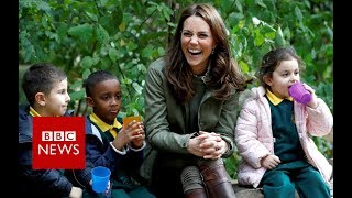 Duchess of Cambridge's first engagement since Prince Louis - BBC News