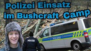 Polizei Einsatz im Bushcraft Camp Lager Abriss Deutsch/Outdoor Twins